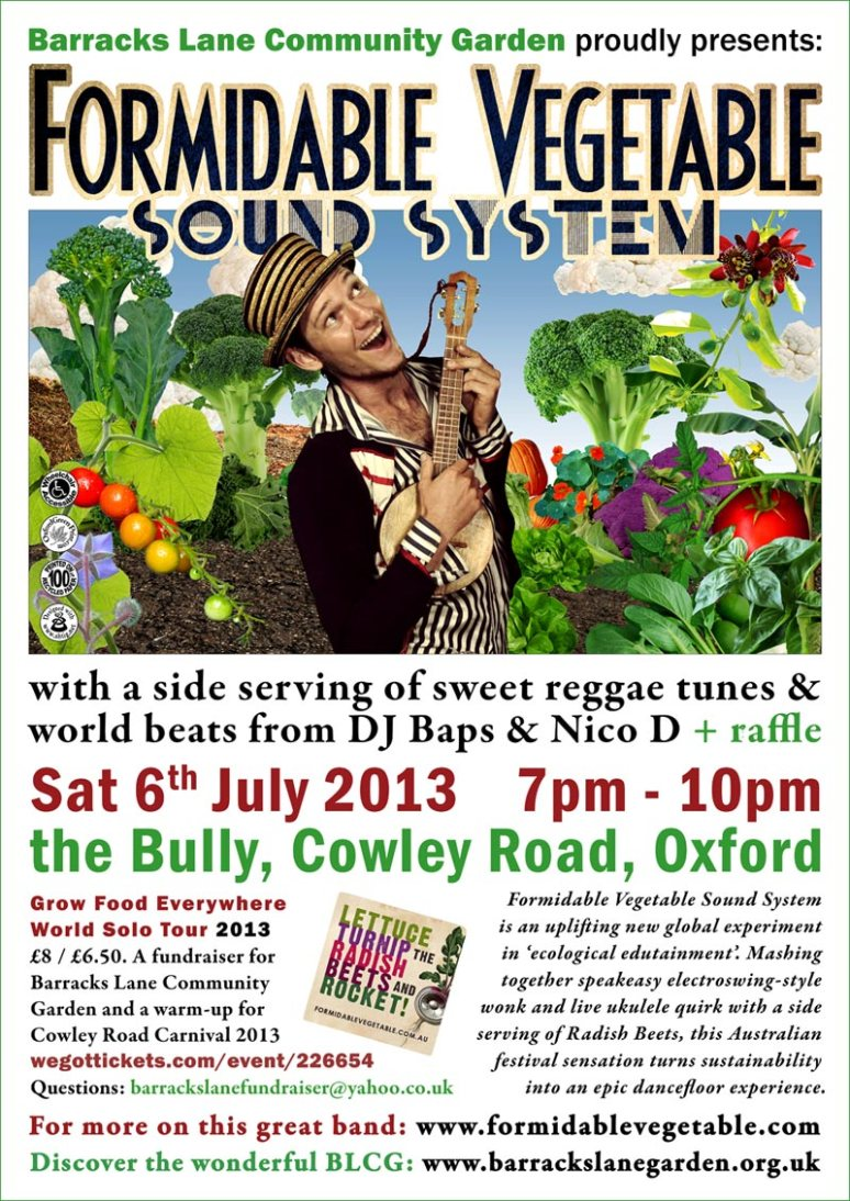 Formidable Vegetable gig poster