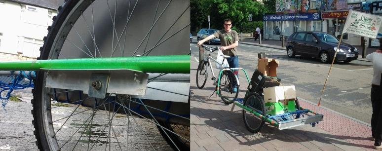 Wheel mount and Steve of Veg in Clover