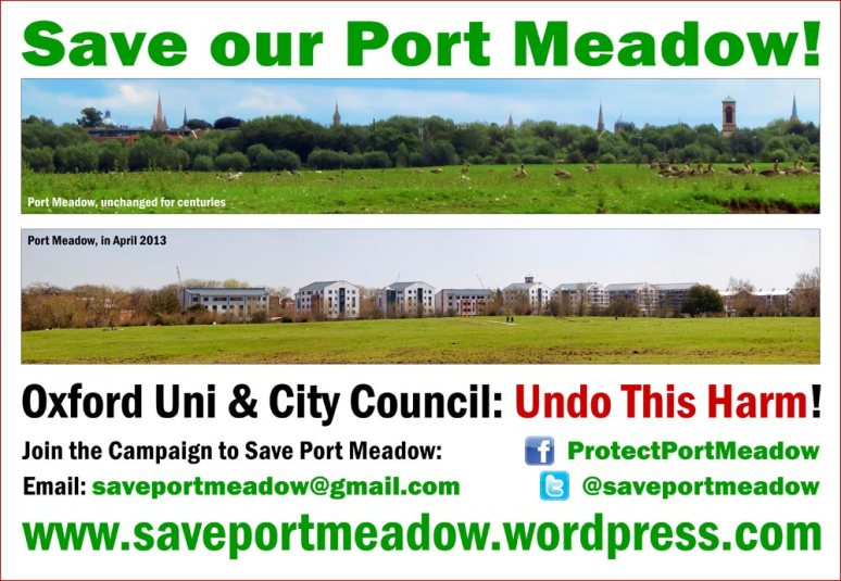 Poster for the campaign to Save Port Meadow