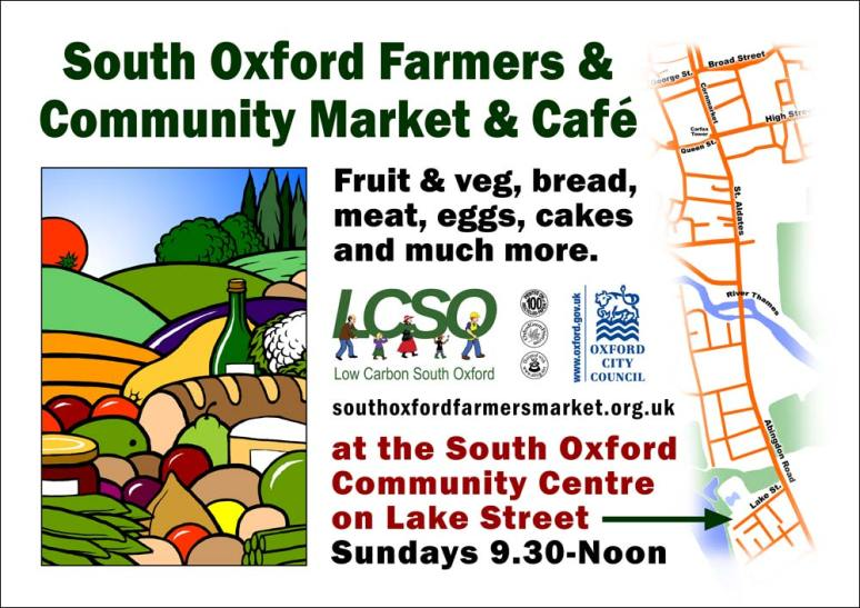 Poster / flyer for the South Oxford Farmers Market