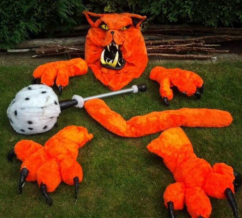 Fat Cat costume components
