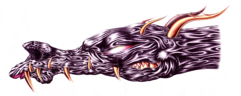 Black Dragon head