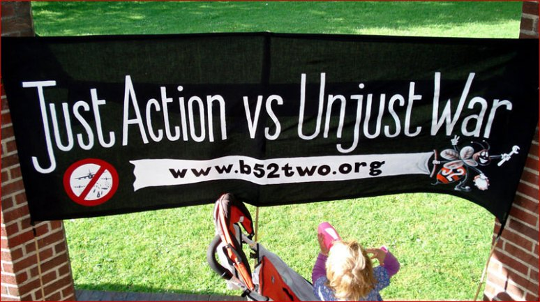 Banner for the B52two, who were back in court in 2008