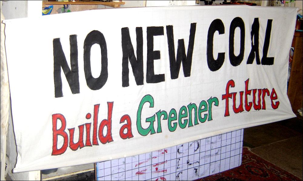 No new coal banner 2010