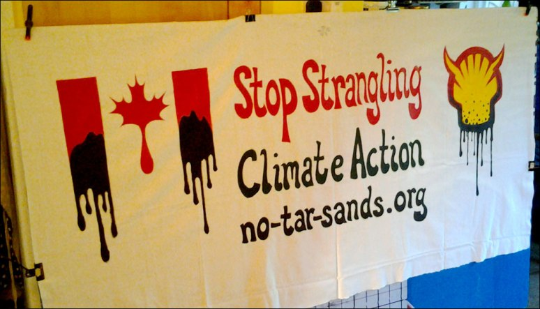 Tarsands Shell banner October 2012