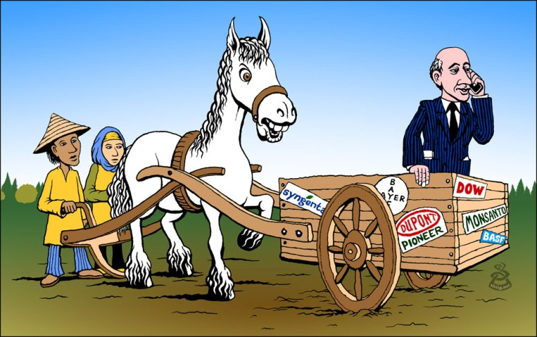 Putting the Cartel before the horse - cartoon for the ETC group