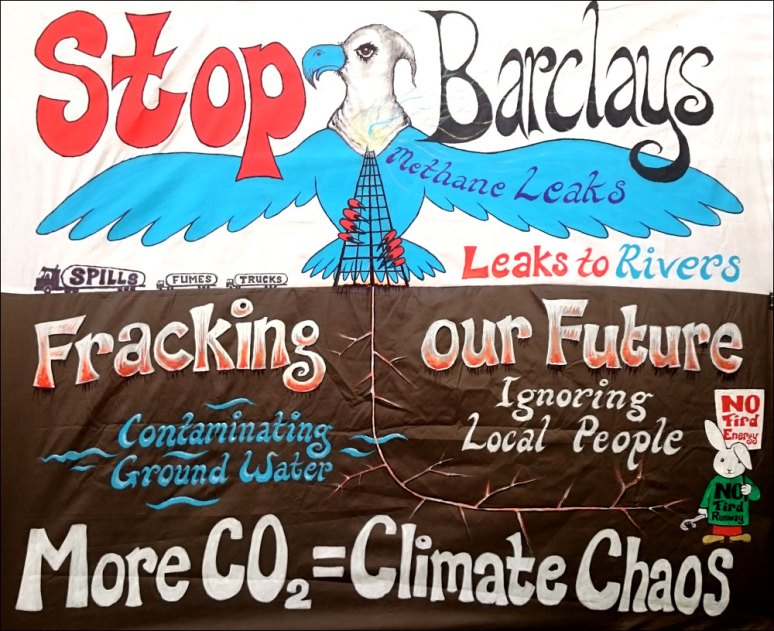 Stop Barclays banner
